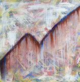 To Climb. Abstract expressionist contemporary acrylic on canvas painting by brad rickerby stock photo