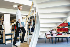 To climb the ladder you have to have knowledge Stock Image