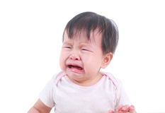 About to cry Asian baby girl Stock Images