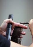 To cut hair Stock Photo