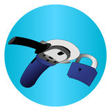 To cut the lock. The picture to cut the lock Royalty Free Stock Image