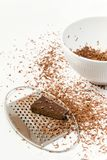 to czekoladki ucierającymi kawałkami przygotowany Zdjęcie Royalty Free