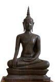 14to-décimo quinto siglo A d Buda antiguo que somete Mara, Ayutthaya, Tailandia Foto de archivo libre de regalías