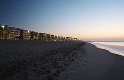 To dawn in Calafell Royalty Free Stock Images