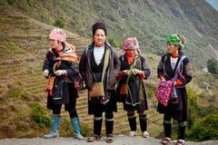 24to de diciembre de 2012, pueblo de Sapa, Vietnam Fotografía de archivo