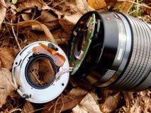 6to de febrero de 2017 Mi Olympus 12-40 F2 la lente 8 con la cámara cae abajo del puente a las piedras en el río Imágenes de archivo libres de regalías