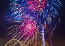 4to de los fuegos artificiales de julio Imágenes de archivo libres de regalías