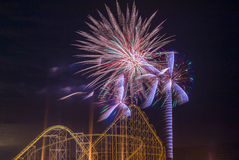 4to de los fuegos artificiales de julio Foto de archivo