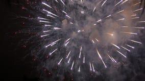 4to de los fuegos artificiales de julio almacen de metraje de vídeo