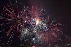 4to de los fuegos artificiales Portland Oregon 2013 de julio Fotografía de archivo