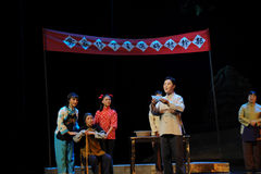 To declare the election results- Jiangxi opera a steelyard Stock Photo