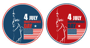 4to del Día de la Independencia americano de julio, ejemplo abstracto ilustración del vector