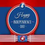 4to del Día de la Independencia de julio stock de ilustración