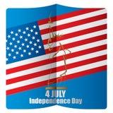 4to del Día de la Independencia del americano de julio libre illustration