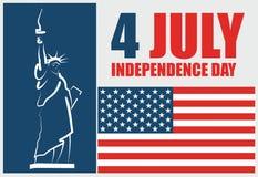 4to del Día de la Independencia del americano de julio stock de ilustración