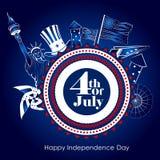 4to del Día de la Independencia de julio de fondo de América Imágenes de archivo libres de regalías