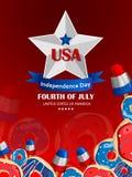 4to del Día de la Independencia de julio de fondo de América Foto de archivo