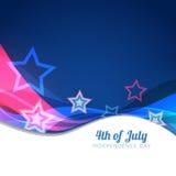 4to del fondo de julio stock de ilustración