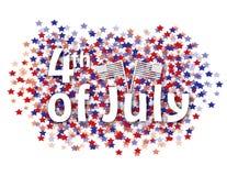 4to del fondo de julio Fotos de archivo libres de regalías