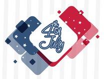 4to del fondo del extracto de julio en colores de la bandera Fotografía de archivo libre de regalías