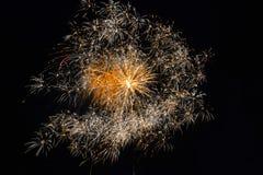 4to del fuego artificial de julio Fotografía de archivo libre de regalías