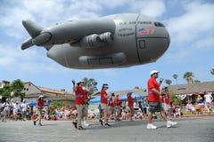 4to del Huntington Beach CA LOS E.E.U.U. del desfile de julio Foto de archivo