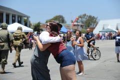 4to del Huntington Beach CA LOS E.E.U.U. del desfile de julio Imágenes de archivo libres de regalías