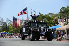 4to del Huntington Beach CA LOS E.E.U.U. del desfile de julio imagen de archivo libre de regalías