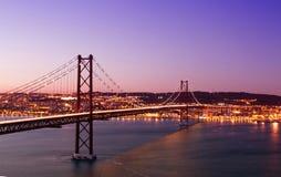 25to del puente de abril Fotos de archivo libres de regalías