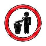To deposit garbage sign Royalty Free Stock Photo