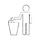 To deposit garbage sign Stock Photography