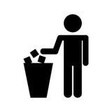 To deposit garbage sign Royalty Free Stock Image