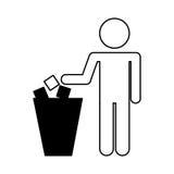 To deposit garbage sign Royalty Free Stock Images
