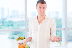 To diet or not to diet? Stock Photos