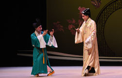 """To discuss the strategy-Kunqu Opera """"the West Chamber"""" Royalty Free Stock Photos"""