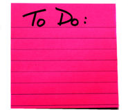 To Do. Isolated view of a hot pink To Do list Stock Images