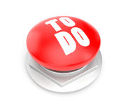 To do button. Separated on white Stock Photography