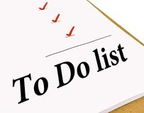 To Do Check List. To Do list with check marks isolated on white Stock Images