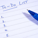 To-Do Checklist Royalty Free Stock Photography