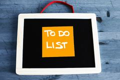 To do list conceptual written on chalkboard Royalty Free Stock Image