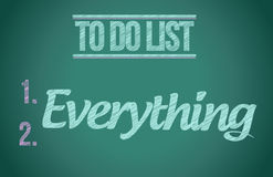 To do everything. to do list illustration. Design graphic Stock Images