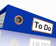 To Do File For Organizing Tasks Stock Photography