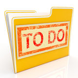 To Do File Shows Organise And Planning Tasks. To Do File Showing Organise And Planning Tasks Royalty Free Stock Photo
