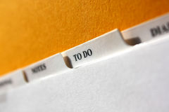 To Do in Focus Stock Photography