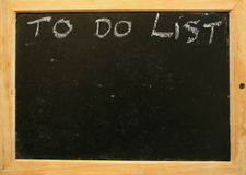 To do list. On the blackboard Royalty Free Stock Photos
