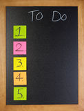 To-Do List 12345 Stock Photography