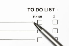 To do list Royalty Free Stock Photography