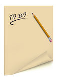 To do list. Vector Art Stock Photo