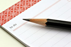 To Do List. With pencil stock photography