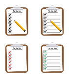 To do list. Illustration of clip board with pencil and to do list Royalty Free Stock Images